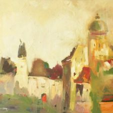 Citadel 2013, oil on canvas, 100 cm x 55.5 cm x 4.5 cm unframed